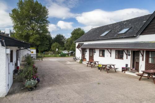 The courtyard, Deanwood Holidays, Yorkley, Forest of Dean.